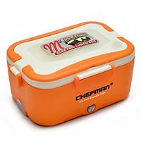 Hộp Cơm Cắm Điện Hâm Nóng Chefman - Hộp Cơm 112i Ruột Inox 304 Đa Năng + Tặng túi đựng & Bộ đũa thìa