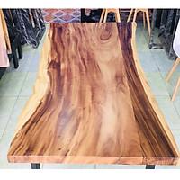 Mặt bàn gỗ me tây ghép tự nhiên dài 150cm rộng 88cm