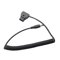 Coiled D-Tap to Straigth DC Cable for DSLR Rig Power V-Mount Anton Battery