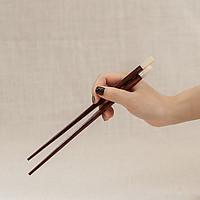 Đũa vuông (23cm) - đuôi trai - gỗ trắc