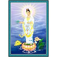 Decal Phật Bà Quán Thế Âm Bồ Tát đứng trên tòa sen nhiều kích thước QuanTheAm_041