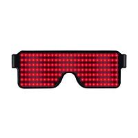 USB Chargeable LED Light Glasses Smart Glasses Fashionable Luminous Eyeglasses Glowing Glasses for Daily Decoration Bar