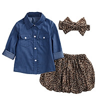 3Pcs/Set Baby Girls New Summer Outfit Blouse+Skirt New Clothes Sunsuit Infant Outfit
