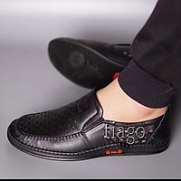 giày lười nam thoáng khí da bò cao cáp đế cao su khâu siêu bền-ct08
