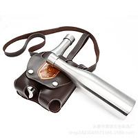 Bộ bình đựng rượu inox 2 chai, mỗi chai dung tích 500ml (Bạc) bao gồm cả túi đựng bình