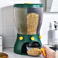 Thùng đựng gạo và ngũ cốc 4 ngăn thông minh dung tích 10kg - Có nút bấm dễ dàng để lấy gạo