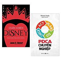 Combo Sách Kinh Tế Hay Nhất Mọi Thời Đại: Cuộc Chiến Disney + PDCA Chuyên Nghiệp (2 cuốn - Tặng kèm bookmark Green Life)