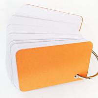 Combo 500 thẻ flashcard trắng cao cấp siêu dày bo góc 5x8 tặng kèm khoen bìa