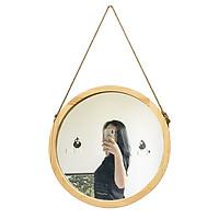 Gương Tròn Treo Tường Vuadecor Gương Tròn Viền Gỗ Thông Mỹ - Circle Mirror