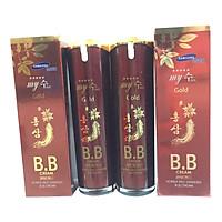 Combo 2 hộp Kem nền BB Hồng sâm đỏ Hàn Quốc-My SU S II R Red Ginseng B.B Cream (40ml),  kem lót nền BB My Gold, kem nền Hàn Quốc, kem nền che khuyết điểm