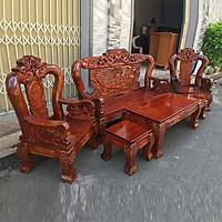 Bộ bàn ghế phòng khách bát tiên tay 12 gỗ tràm