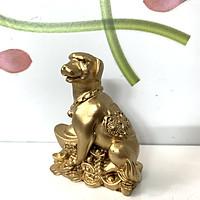 Tượng đá Phong thủy tượng đá con Chó ôm thỏi vàng tài lộc - Đá non nước