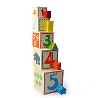 Đồ Chơi Gỗ  Skids, Hộp xếp chồng thả hình khối, đồ chơi kỹ năng cho bé phát triển toàn diện