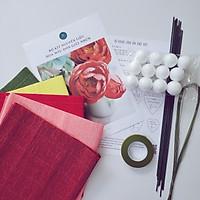 SET Nguyên Liệu Làm Hoa Mẫu Đơn Giấy Nhún Handmade