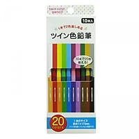 Bút chì màu 2 đầu 20 màu