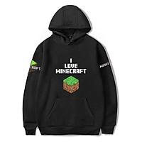 Mẫu áo HOODIE I LOVE MINECRAFT - dành cho game thủ cực chất