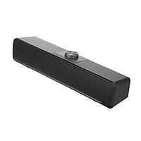 V-196 Computer Speaker USB Wired Bar Stereo Subwoofer Music Player Bass Surround Sound Box 3.5mm Audio Input for PC