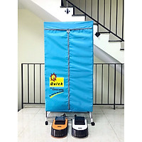 Tủ sấy quần áo 2 tầng cao cấp có điều khiển từ xa NiNDA ND 858- HÀNG CHÍNH HÃNG