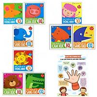 Combo 9 cuốn Phát Triển Trí Tuệ Cho Bé : Phát Triển Chỉ Số Thông Minh IQ EQ CQ - Cho Bé Từ 2- 5 Tuổi + Poster An Toàn Cho Con Yêu