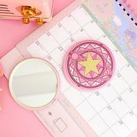 Gương Cardcaptor Sakura thủ lĩnh thẻ bài gương bỏ túi cầm tay 2 mặt dễ thương tiện lợi anime quà tặng độc đáo