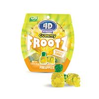 Kẹo dẻo nhân nước trái cây 4D 3 vị dứa, nho, đào 40g, chất lượng quôc tế