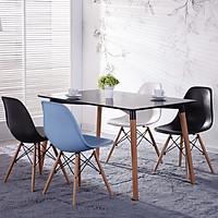 Bộ bàn ăn gỗ sơn 1m2 và 4 ghế DSW nhựa ABS nhập khẩu