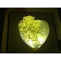 Xà bông trong suốt trái tim hoa hồng màu vàng  - 35 gam