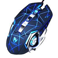 Chuột dây Gaming JVJ T-Wolf V6 - Tặng kèm lót chuột Logitech - Hàng chính hãng