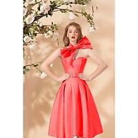 Đầm dự tiệc xếp ly tùng váy TRIPBLE T DRESS kèm phụ kiện phối dc 2-3 kiểu váy - size M/L (kèm ảnh/video thật) MS321V
