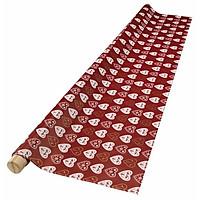 Khăn Trải Bàn Ifing Nhựa PVC Màu Đỏ R140cm