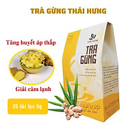 Trà Gừng Thái Hưng Giải cảm lạnh tăng huyết áp thấp - Hộp 25 túi lọc x 5g