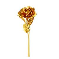 Bông Hồng Giả Mạ Vàng 24K Trang Trí