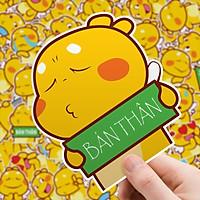 Set 30 Sticker khủng long Vàng Qoobee hình dán có ép lụa