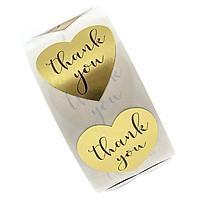 Sticker Thank You trái tim - Cuộn băng keo tape cám ơn 500cái x 2.5cm