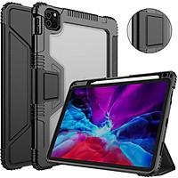 Bao da chống sốc cho iPad Pro 11 2021 Chip M1 / iPad Pro 11 2020 hiệu Nillkin Bumber có ngăn đựng bút chống va đập, mặt lưng show Logo táo, cơ chế smartsleep - hàng chính hãng