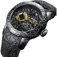 BIDEN Fashion Watch Trend Multi-functional Business Men's Watches Black