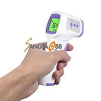 Nhiệt kế điện tử cảm biến hồng ngoại cầm tay đo thân nhiệt thông minh gp-300 (Tặng kèm nhiệt kế mini đo nhiệt độ phòng cao cấp- giao màu ngẫu nhiên)