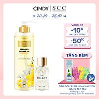 Bộ đôi sữa tắm nước hoa & nước hoa nữ Cindy Bloom Romantic Muse mùi hương quyến rũ lãng mạn 640g + 30ml