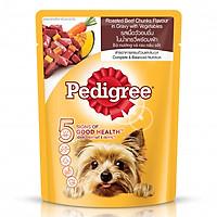 Thức Ăn Cho Chó Pedigree Vị Bò Nướng Và Rau (80g)