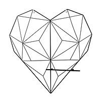 Khung lưới sắt hình Trái Tim treo ảnh trang trí