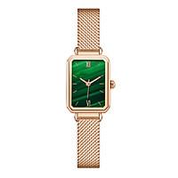 Đồng hồ nữ mặt chữ nhật dây da, dây kim loại cao cấp mặt kính chống xước, chống nước NT02