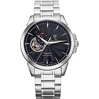 Đồng hồ nam dây kim loại Automatic Olym Pianus OP990-083AMS đen