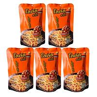 Combo 5 Snack (Bim Bim) Bánh Que Cam Vị Thịt Xông Khói Dorkbua Lotus Nhập Khẩu Thái Lan (55g/Gói)