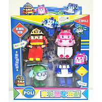 Đồ chơi trẻ em Đội bay siêu đẳng Robocar Poli và những người bạn - Bộ 4 con