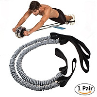 1Pair Stretch Pull Rope Abdominal Pull Rope Latex Exercise Roller Abdominal Slimming Fitness Equipment