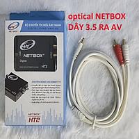 Bộ Chuyển Đổi Âm Thanh Digital NETBOX HT2,DÂY 3.5  RA 2 ĐẦU AV 1.8M - Hàng Chính Hãng