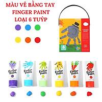 Màu vẽ bằng tay Finger Paint có 2 loại 6 tuýp và 12 tuýp cho bé lựa chọn