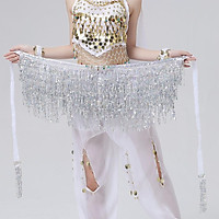 Women Fashion Belly Dancing Hip Scarf, Wrap Skirt, Sequins Tassel Belly Chain