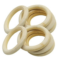 Natural Wooden Rings Natural Wood Craft Ring DIY Jewelry Findings 5pcs 100mm