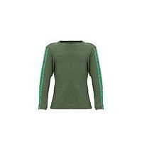 Áo T-shirt Bé Trai Tay Dài_Yvette LIBBY N'guyen Paris_YVETTE COOL BT1 _Màu Xanh rêu (Greenery)_Cotton Mélange hữu cơ (Organic)
